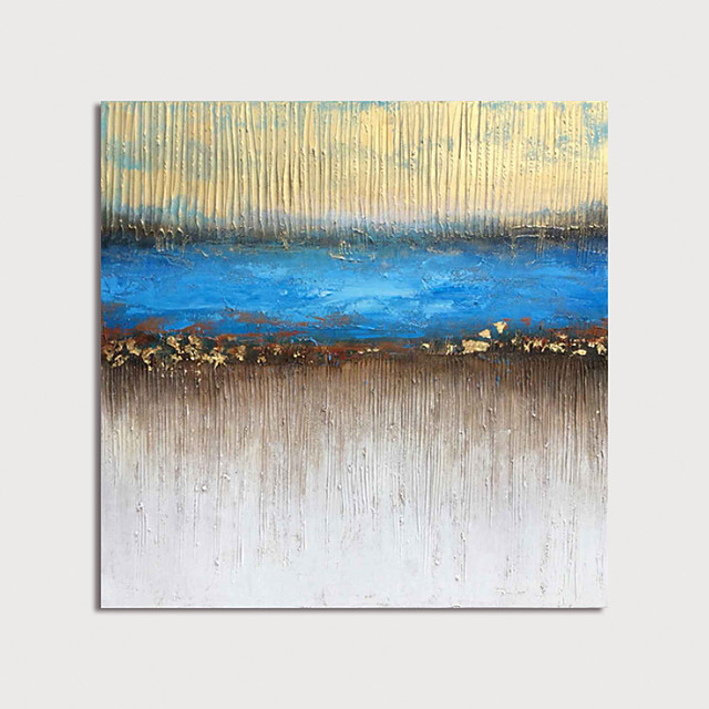 Hand Painted Canvas Oilpainting Abstract by Knife Home Decoration with Frame Painting Ready to Hang