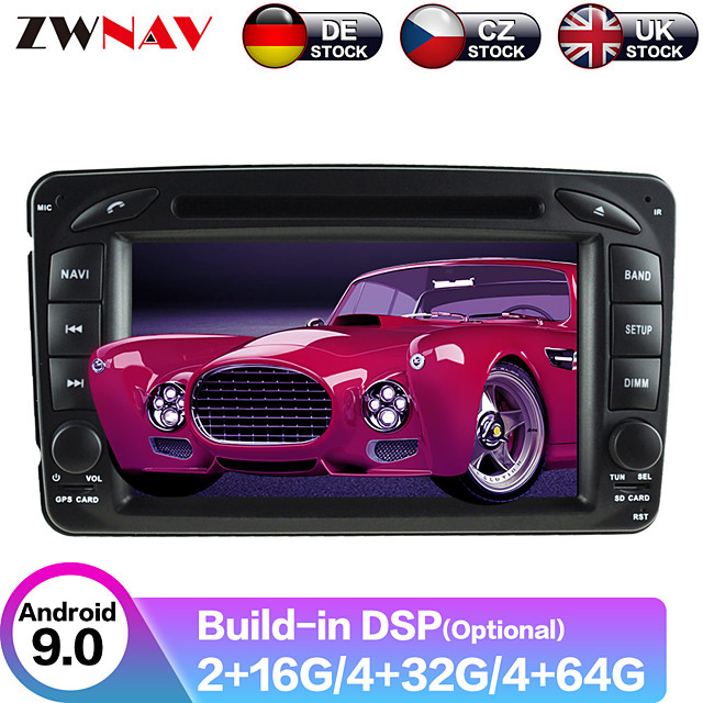 ZWNAV 7inch 2din Android 9 DSP Car MP5 Player Car DVD player GPS Navigation car Multimedia Player auto radio tape recorder For Mercedes Benz W203/W209/W463/W168