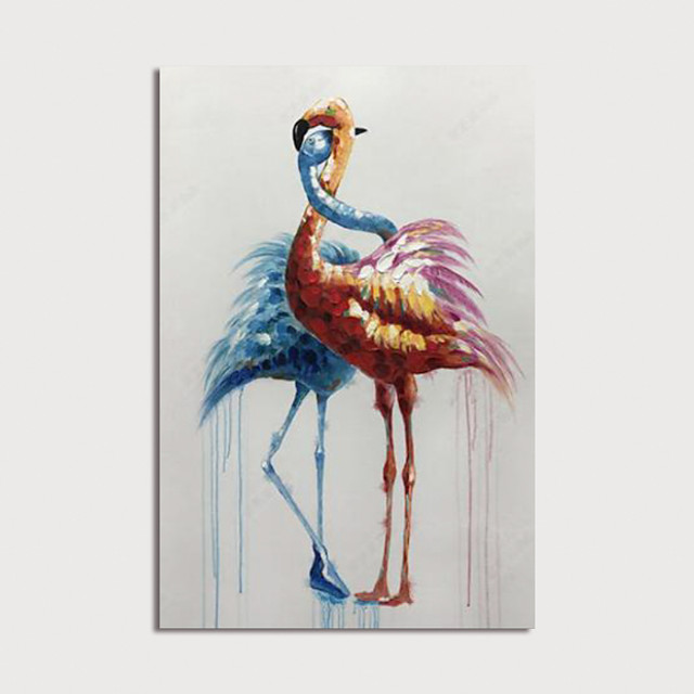 Hand Painted Canvas Oilpainting Abstract Animal Home Decoration with Frame Painting Ready to Hang