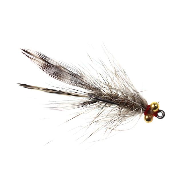 4 pcs Flies Flies Sinking Bass Trout Pike Fly Fishing Freshwater Fishing General Fishing Metal