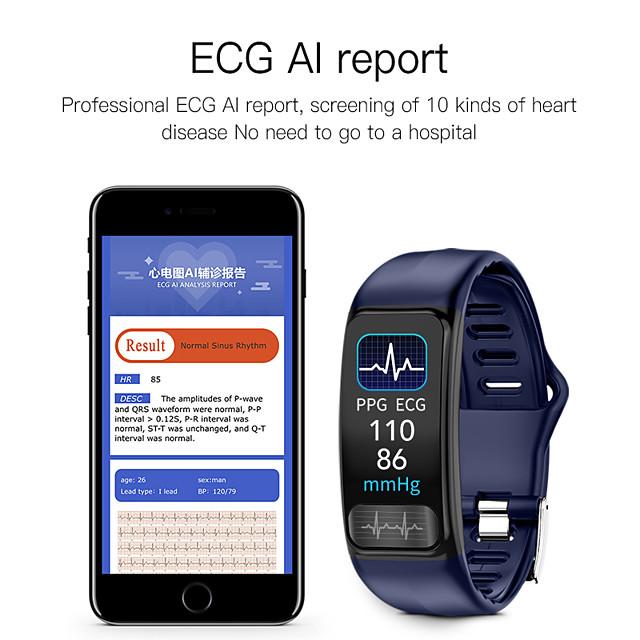 Imosi P12 ECG PPG smart bracelet heart rate oxygen monitor blood pressure smart belt IP67 waterproof call reminder sports Band