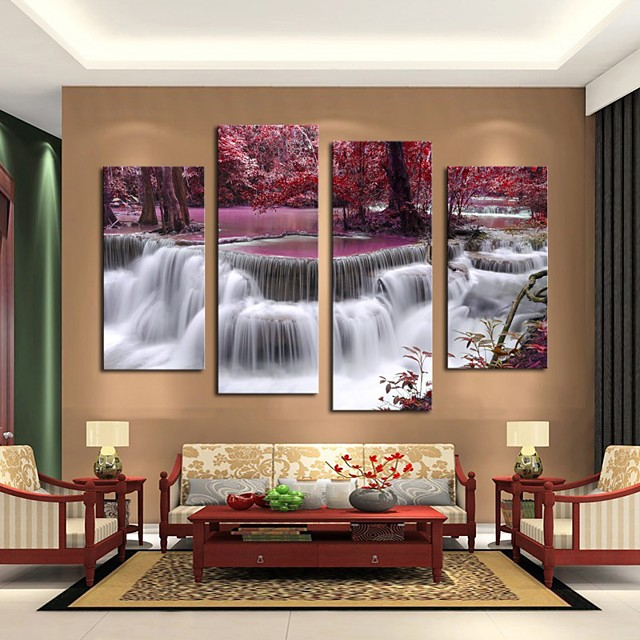 5 Panels Modern Canvas Prints Painting Home Decor Artwork Pictures Decor Print Rolled Stretched Modern Art Prints Abstract Landscape