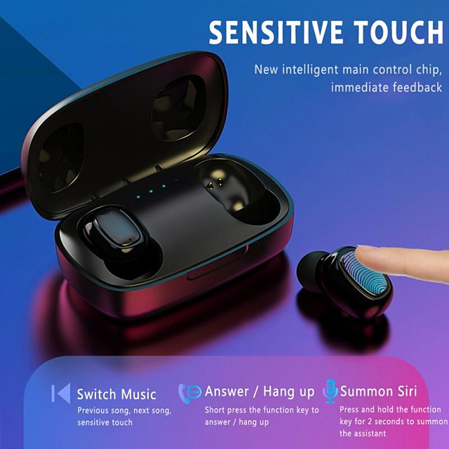 LITBest T10-TWS TWS True Wireless Earbuds Wireless Stereo with Microphone with Charging Box Waterproof IPX4 Sweatproof for Sport Fitness