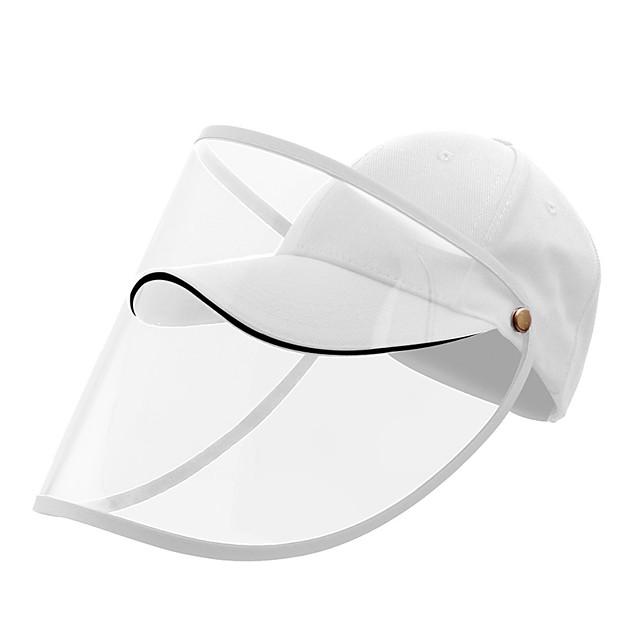 beskyttelse hel ansikt baseballhette gjennomsiktig hat hjelm isolasjon åndedrettsvern spydel sikkerhet arbeid beskyttelse ansiktshette anti støv anti vind støv justerbar avtagbar-hvit