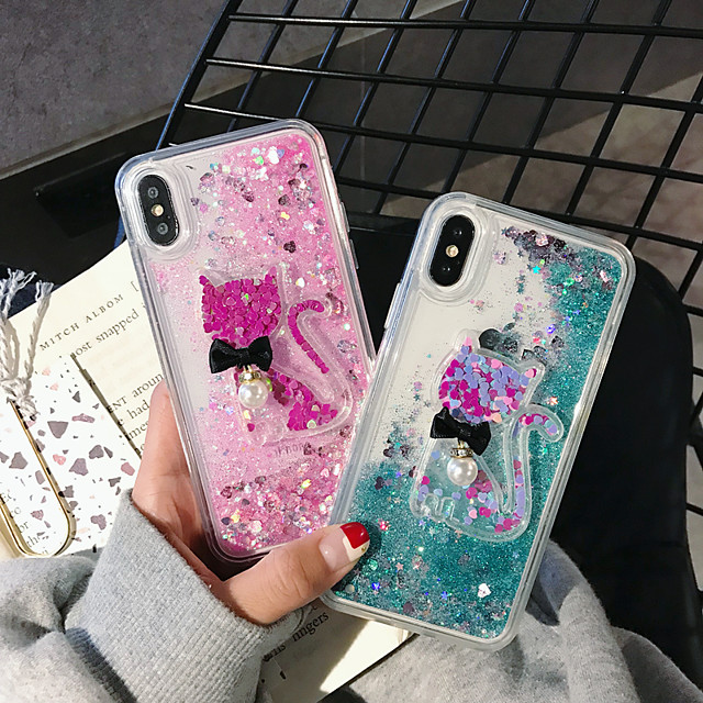 Case For Apple iPhone 11 / iPhone 11 Pro / iPhone 11 Pro Max Shockproof / Flowing Liquid / Pattern Back Cover Cat / Animal / Cartoon PC