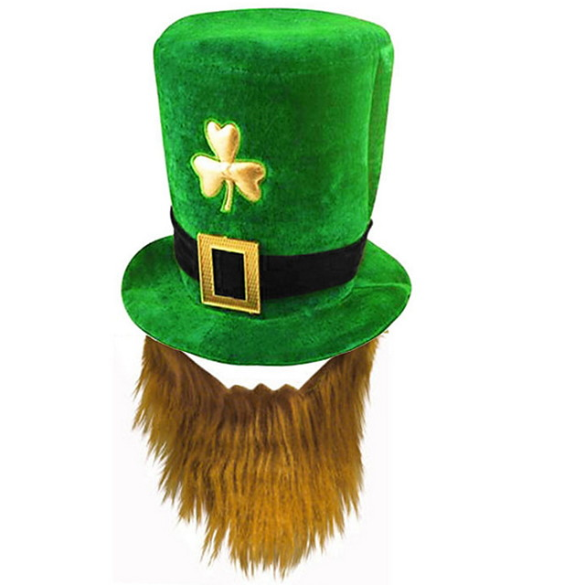 Holiday Decorations Saint Patrick day Forest Green hat 1pc