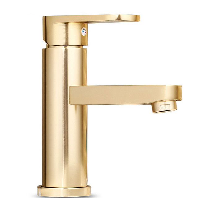 Bathroom Sink Faucet - Standard Electroplated Centerset Single Handle One HoleBath Taps