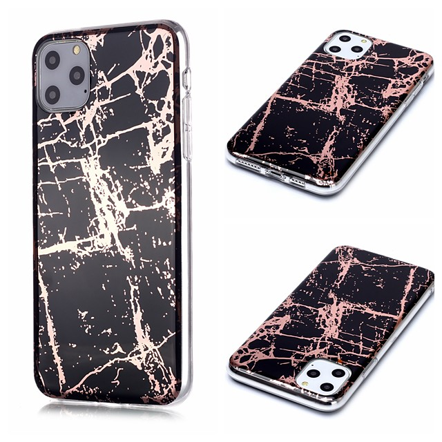 Case For Apple iPhone 11 / iPhone 11 Pro / iPhone 11 Pro Max Plating / Pattern Back Cover Marble TPU