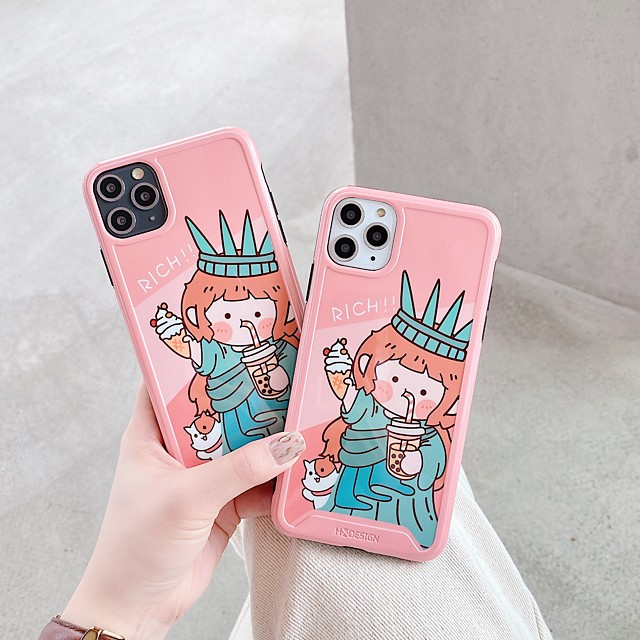 Case For Apple iPhone 11 / iPhone 11 Pro / iPhone 11 Pro Max Shockproof / Ultra-thin / Frosted Back Cover Cartoon PC
