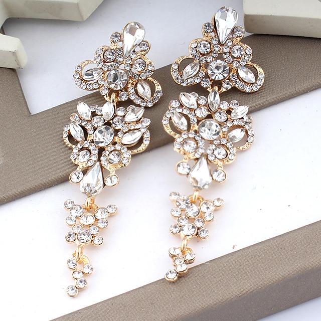 Women's Drop Earrings Dangle Earrings Pear Cut Drop Fashion Elegant Earrings Jewelry Gold / Silver For Wedding Party Anniversary Prom 1 Pair