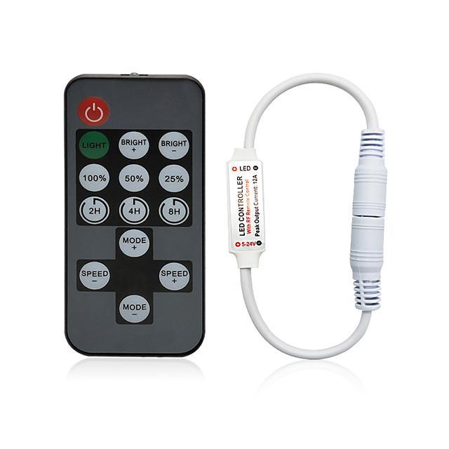 14 Keys RF LED Strip Controller Mini Dimmer RF Remote DC 5V 12V 24V Controller For LED 5050 2835 3528 Strip Single Color