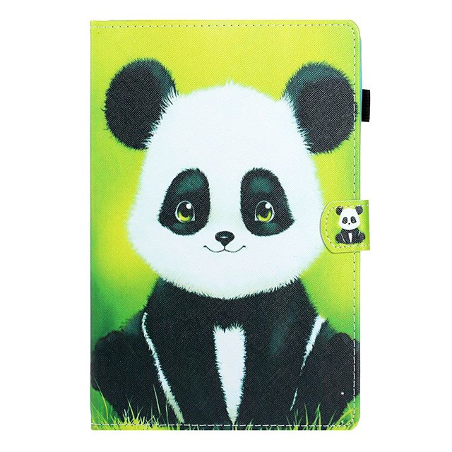 Case For Samsung Galaxy Tab A2 10.5(2018) / Samsung Tab A 10.1(2019)T510 / Samsung Tab A 8.0(2019)T290/295 Card Holder / with Stand / Flip Full Body Cases Panda PU Leather
