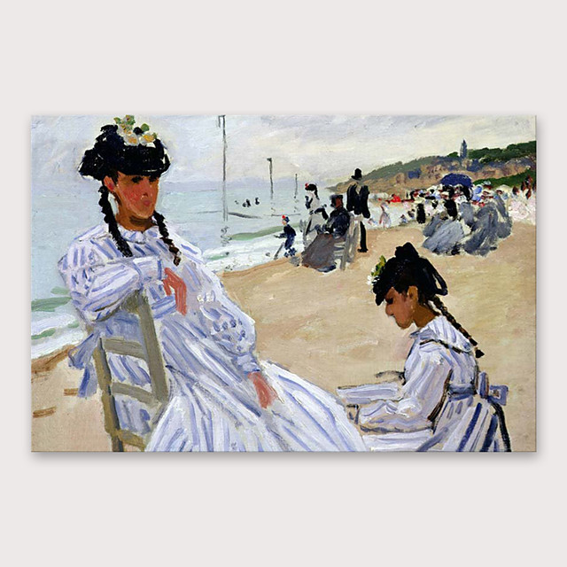 IARTS®Hand Painted Beach Oil Painting   with Stretched Frame For Home Decoration