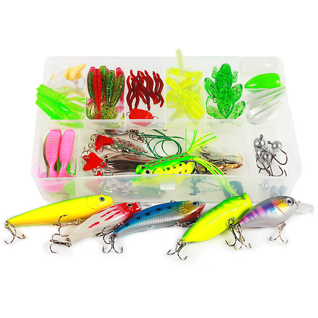 1 pcs Flies Lure kits Hard Bait Soft Bait Buzzbait & Spinnerbait Spoons Flies Minnow Crank Floating Sinking Fast Sinking Bass Trout Pike Fly Fishing Bait Casting Freshwater Fishing Hard Plastic