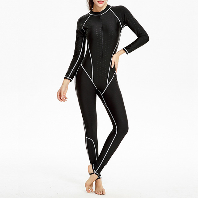 Women's Rash Guard Dive Skin Suit Bodysuit UV Sun Protection Breathable Full Body Front Zip - Swimming Diving Water Sports Solid Colored Autumn / Fall Spring Summer / Winter