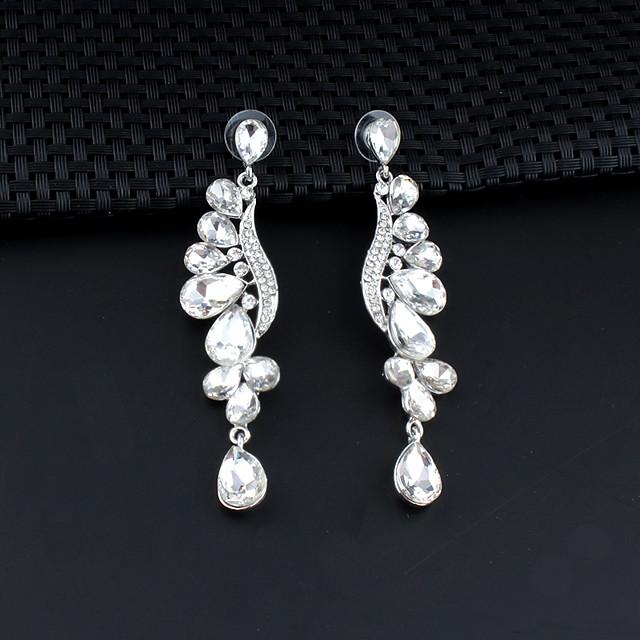 Women's Drop Earrings Dangle Earrings Pear Cut Drop Elegant Fashion Earrings Jewelry Silver For Wedding Party Anniversary Prom 1 Pair