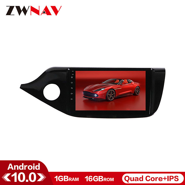 ZWNAV 9inch 1din 1GB 16GB Android 10 Car GPS Navigation Car MP5 Player Radio Car Stereo Multimedia Player Steering Wheel Control for KIA Ceed 2012-2016
