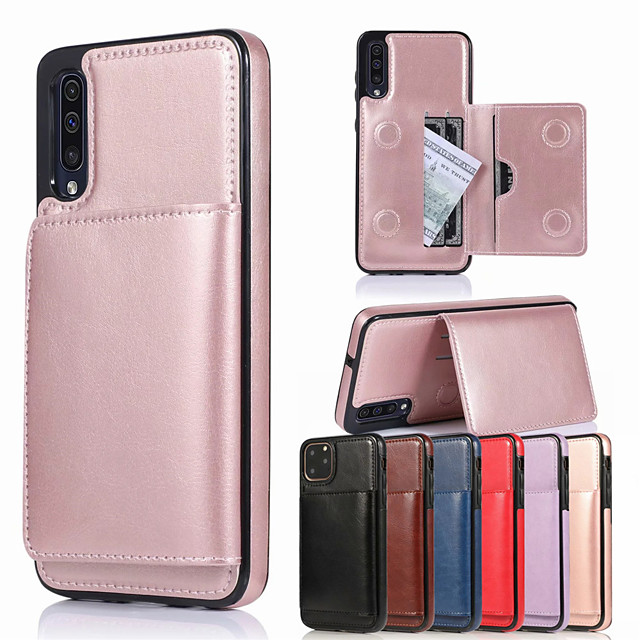 Retro PU Leather Card Holder Case for Samsung Galaxy A10 A20 A30 A40 A50 A70 A10S A30S A50S A70S A20E M10 S10 S10E S10Plus S9 S9 Plus S8 S8 Plus Note 10 Note 10 Plus