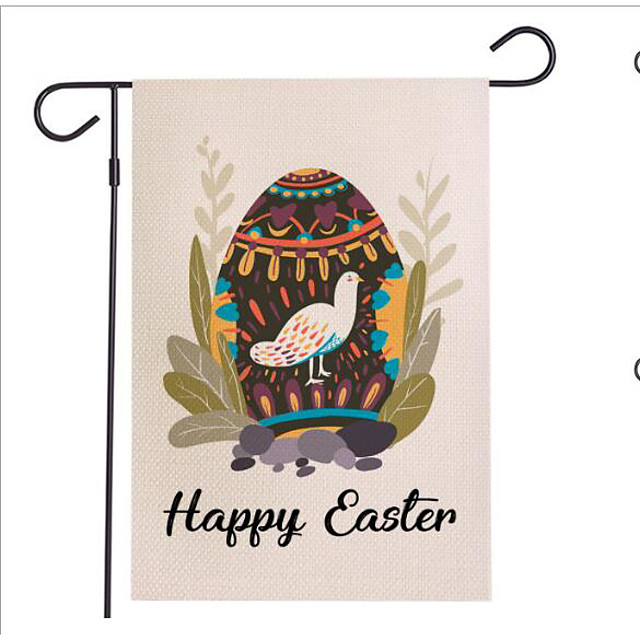 Happy Easter bunny egg Holiday Decorations home flag outdoor decorative object