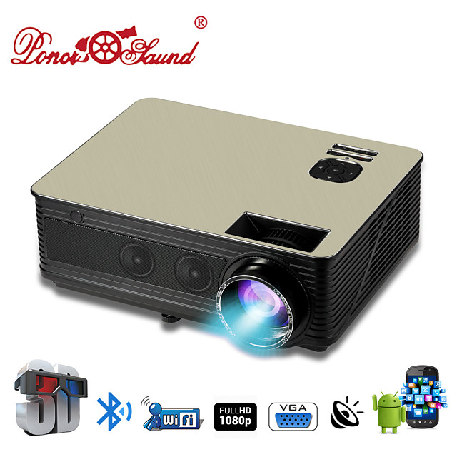 HTP M5 LCD Home Theater Projector / USB 2.0 LED Projector 3000 lm Support 1080P (1920x1080) 42-200 inch Screen