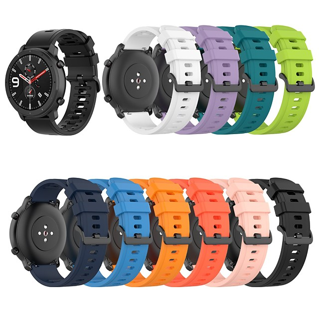 Watch Band for Huami Amazfit GTR 47mm / Amazfit Pace/Amazfit Stratos 2/3 Amazfit Sport Band Silicone Wrist Strap