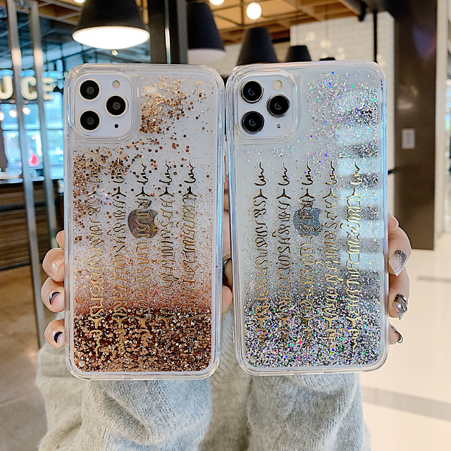 Case For Apple iPhone 11 / iPhone 11 Pro / iPhone 11 Pro Max Shockproof / Flowing Liquid / Pattern Back Cover Word / Phrase PC