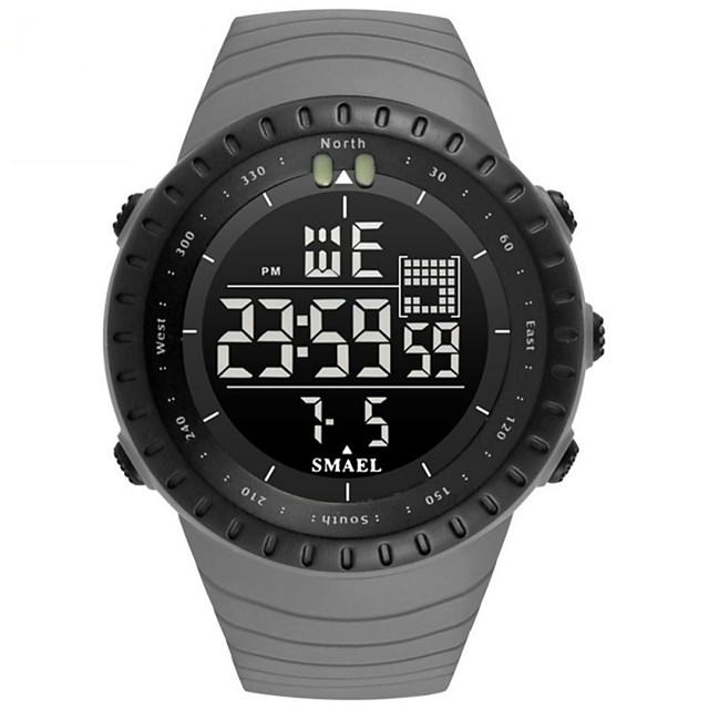 Men's Digital Watch Japanese Automatic self-winding Sporty Rubber Black / Grey 30 m Water Resistant / Waterproof Calendar / date / day Chronograph Analog - Digital Casual Fashion - Black Orange Red