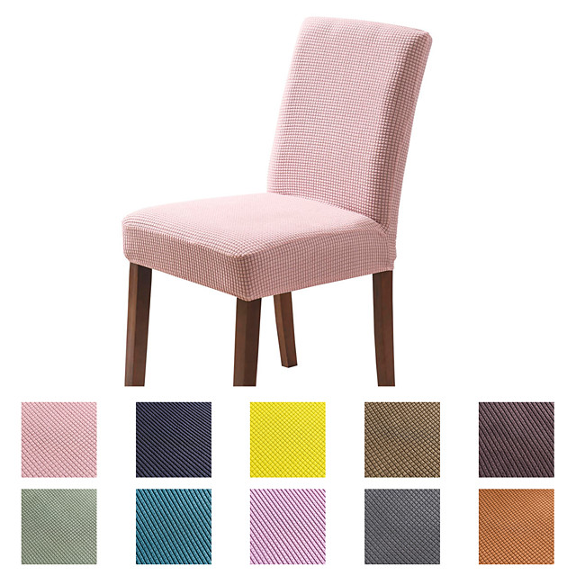 Chair Cover Dining Chair Slipcover Super Fit Stretch Removable Washable Short Dining Chair Protector Cover Seat Slipcover for Hotel/Dining Room/Ceremony/Banquet Wedding Party