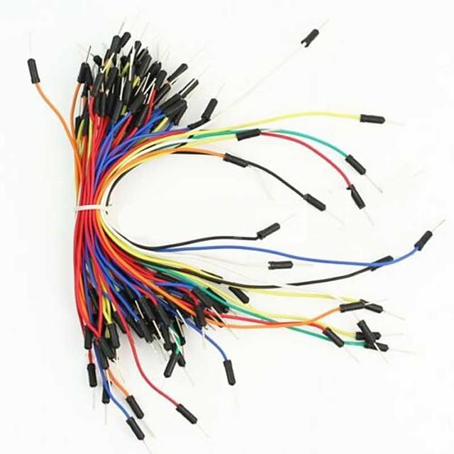 puntos de unión placa de circuito impreso sin soldadura y cable de puente de 65 piezas