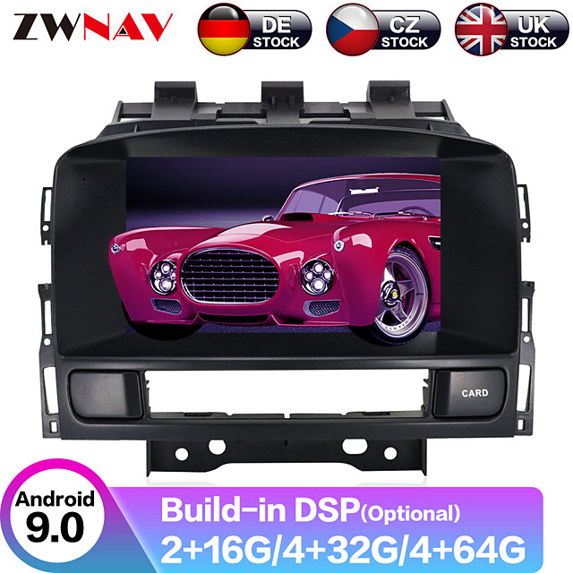ZWNAV 7inch 2din Android 9.0 4GB 64GB PX6 PX5 DSP Car DVD Player Car Multimedia Player stereo Car GPS navigation radio tape recorder for Opel Vauxhall Holden Astra J 2010