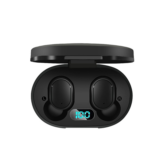 A6L TWS True Wireless Earbuds LED Power Display Charging Case Bluetooth 5.0 Stereo Dual Drivers Auto Pairing Smart Touch Control Earphones