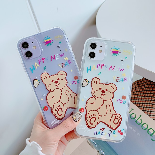Case For Apple iPhone 11 / iPhone 11 Pro / iPhone 11 Pro Max Shockproof / Ultra-thin / Transparent Back Cover Transparent / Animal / Cartoon TPU