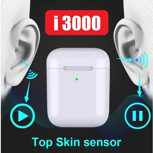 LITBest I3000 TWS True Wireless Earbuds Wireless Bluetooth 5.0 Stereo with Volume Control with Charging Box Auto Pairing 1 to 1 Replica for Mobile Phone