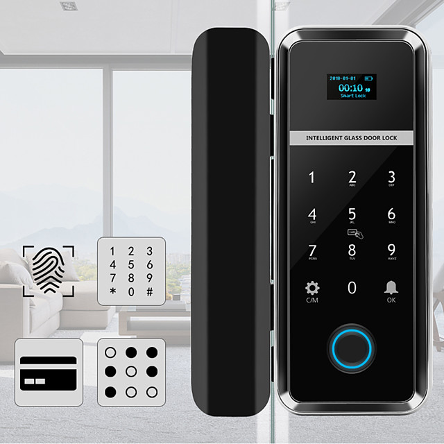 Single/Double Open Door Fingerprint Lock Fingerprint & Touchscreen Smart Lock Digital App Glass Door Lock(WF-012)