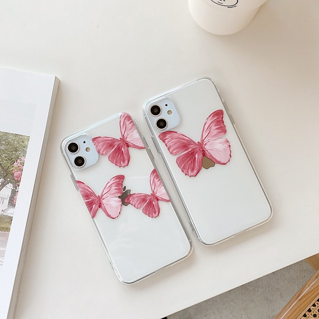 Case for Samsung scene map Samsung Galaxy S10 S10 Plus S10e Cartoon feather butterfly pattern High penetration Thicken TPU Texture All-inclusive phone case