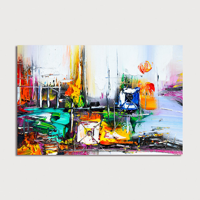 Hand Painted Canvas Oilpainting Abstract People Home Decoration with Frame Painting Ready to Hang
