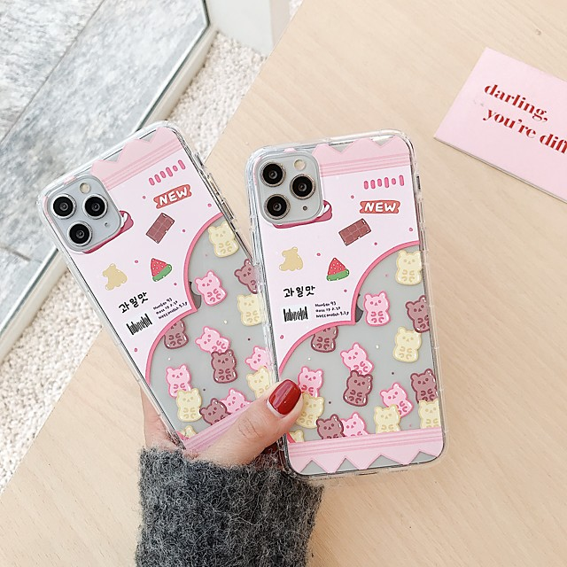 Case for Apple scene map iPhone 11 11 Pro 11 Pro Max cartoon pattern high transparent thick TPU material airbag anti-fall all-inclusive mobile phone case