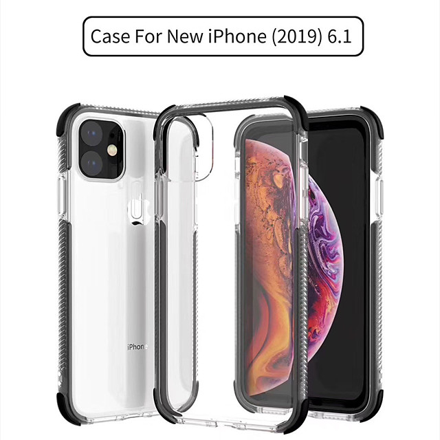Case For Apple iPhone 11 / iPhone 11 Pro / iPhone 11 Pro Max Transparent Back Cover Transparent / Solid Colored Silica Gel