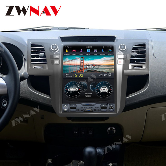 zwnav 10.4 Inch 1din Android 8.1 4GB 64GB Tesla style Car GPS Navigation Car auto multimedia player Car MP5 Player tape recorder For Toyota Fortuner 2007-2015