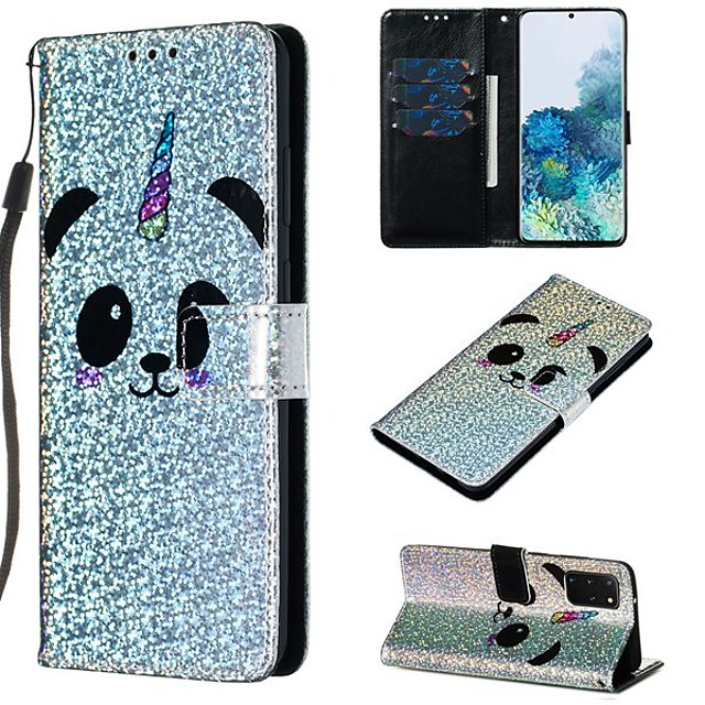 Case For Samsung Galaxy A50/Galaxy Note 10 / Galaxy Note 10 Plus Wallet / Card Holder / with Stand Full Body Cases Panda PU Leather For Galaxy S20/S20 Plus/S20 Ultra/A50S/A30S/A71