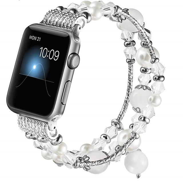 Watch Band for Apple Watch Series 5/4/3/2/1 Apple Jewelry Design Resin Wrist Strap