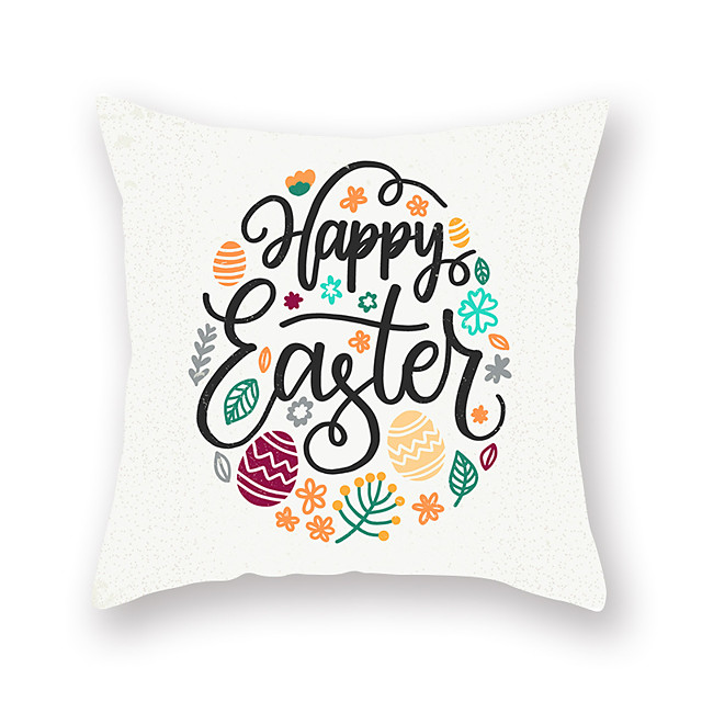 Easter Cartoon Rabbit Pillow Case Digital Print Sofa cushion pillow case