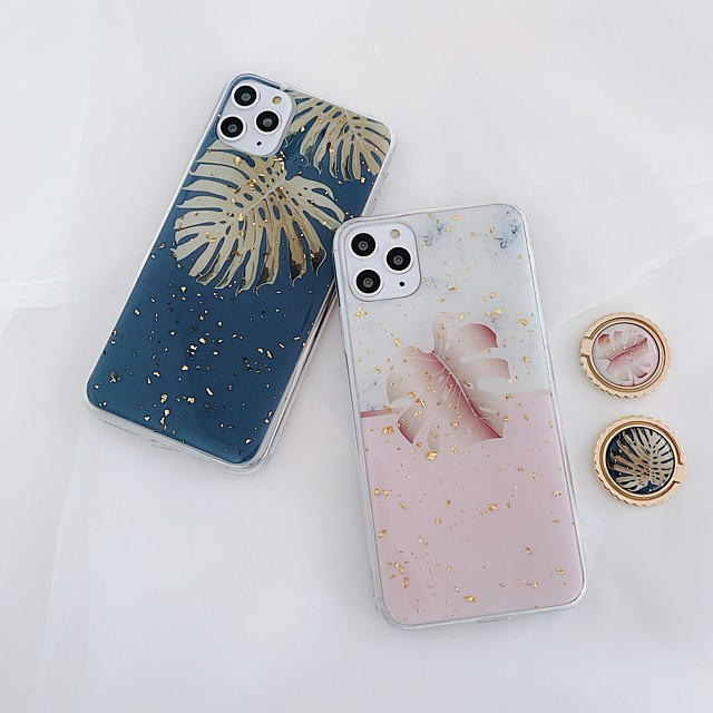 Case For Apple iPhone 11 / iPhone 11 Pro / iPhone 11 Pro Max Ring Holder / Pattern / Glitter Shine Back Cover Tree / Glitter Shine TPU