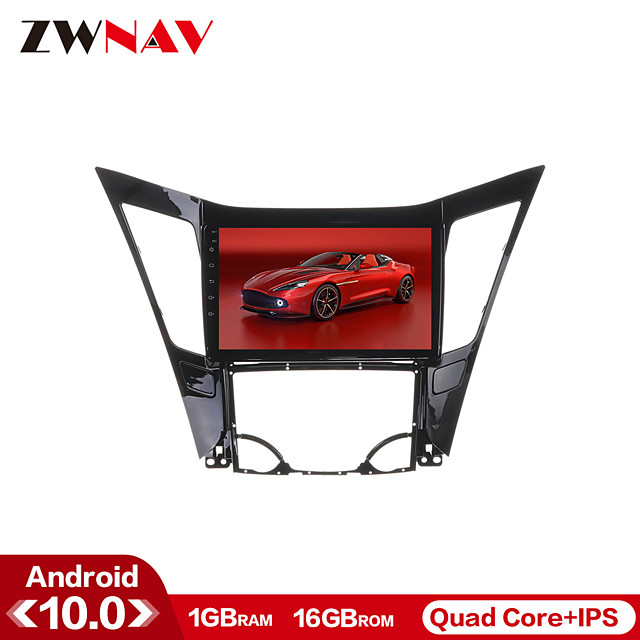 ZWNAV 10.1 inch 1GB 16GB 1din Android 10.0 Car GPS Navigation Car Stereo Player Car Multimedia Player DSP CarPlay WIFI For Hyundai Sonata 2011-2013