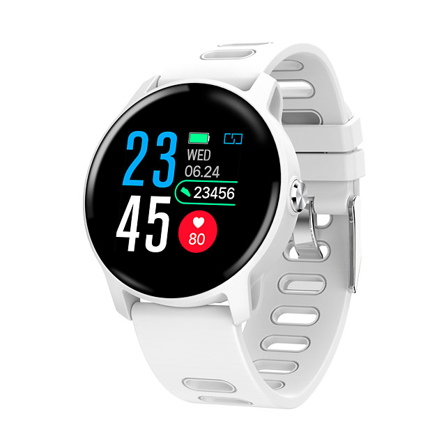 CARKIRA S08 Men Smartwatch Android iOS Bluetooth Waterproof Touch Screen Heart Rate Monitor Blood Pressure Measurement Sports Stopwatch Pedometer Call Reminder Activity Tracker Sleep Tracker