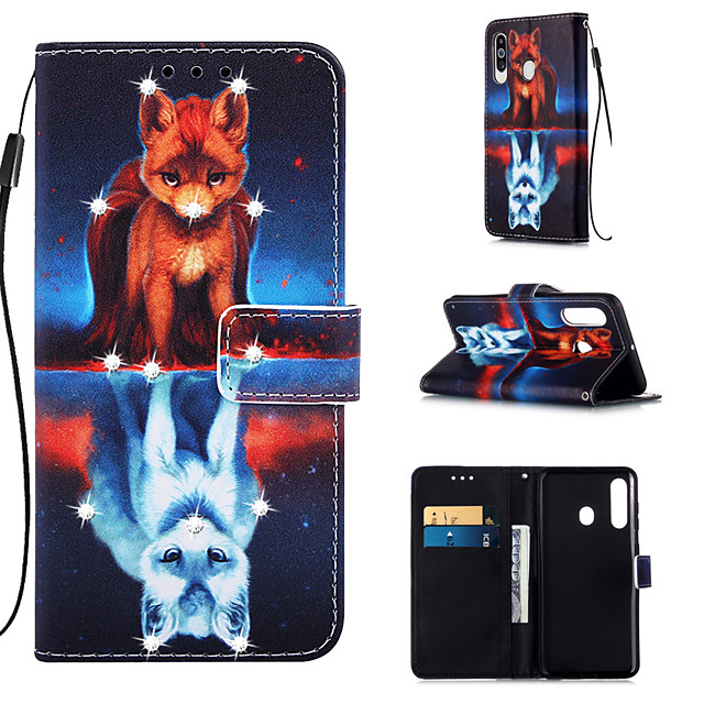 Case For Samsung Galaxy S9 / S9 Plus / S8 Plus Wallet / Card Holder / Rhinestone Full Body Cases Animal PU Leather for Galaxy S20 PLUS S20 ULTRA S20 A51 A71 A50 A40 A30 A20 A10S NOTE10 J4 PLUS