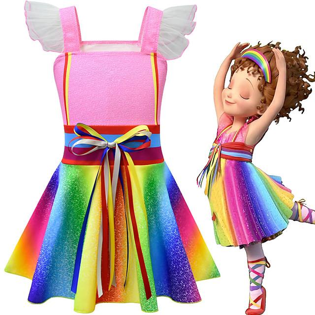 Fancy Nancy Dress Cosplay Costume Girls' Movie Cosplay Cosplay Costume Party Pink Dress Polyster