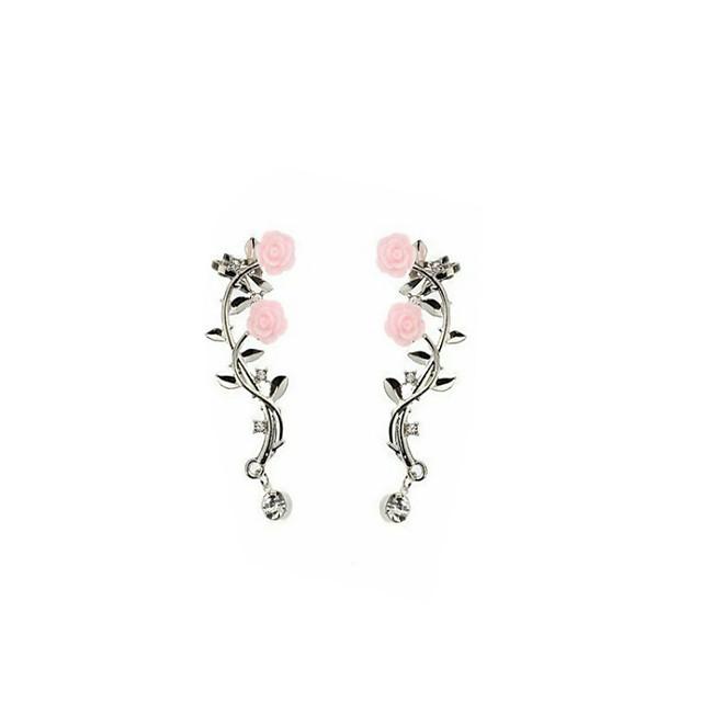 Women's Earrings Tropical Flower Fashion Cute Earrings Jewelry Gold / Silver For Daily Street Festival 1 Pair