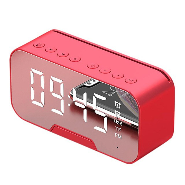 Portable Bluetooth Speaker Super Bass Wireless Stereo Speakers Support TF AUX mirror Alarm Clock for Phone Computer