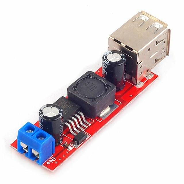 Dual USB Output 9V/12V/24V/36V to 5V DC-DC Vehicle Charging 3A Buck Voltage Step-Down Module